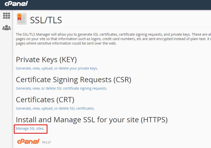 manage SSL CRT