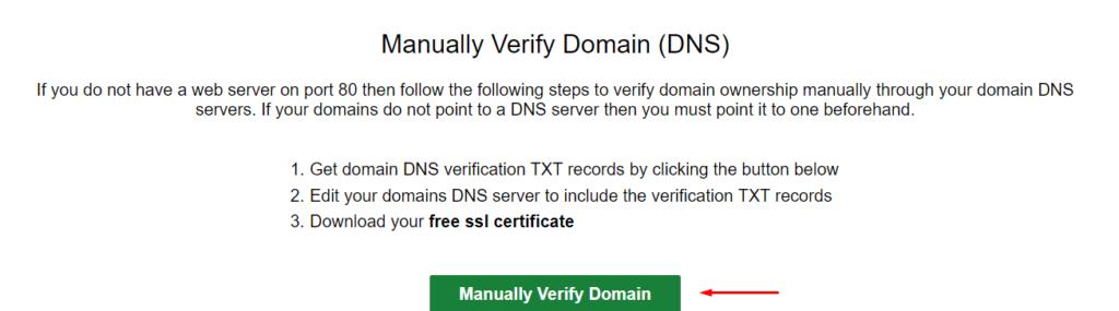 manually verify