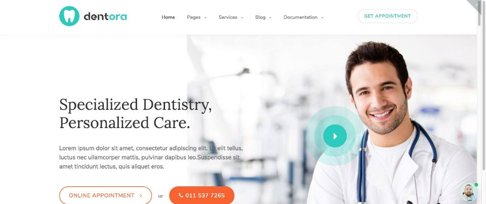 Dentora WordPress Theme
