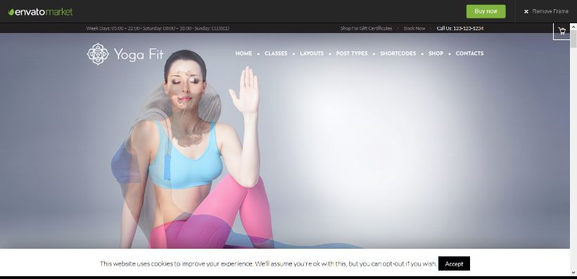 yoga fit theme live demo