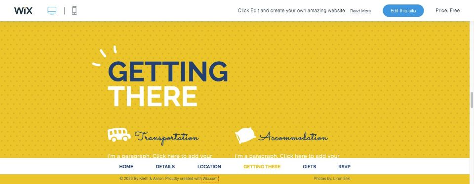 Wedding Invitation Website Template WIX