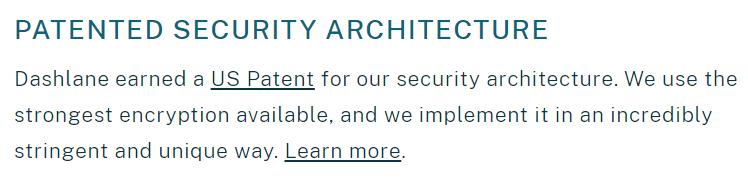 dashlane-patented security